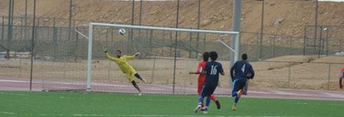 Football side darts into semi-final after drawn match