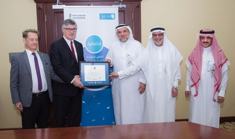 "College of Medicine at KSU Obtains ""the 1st Healthy Institutional Accreditation from The RCPSC"