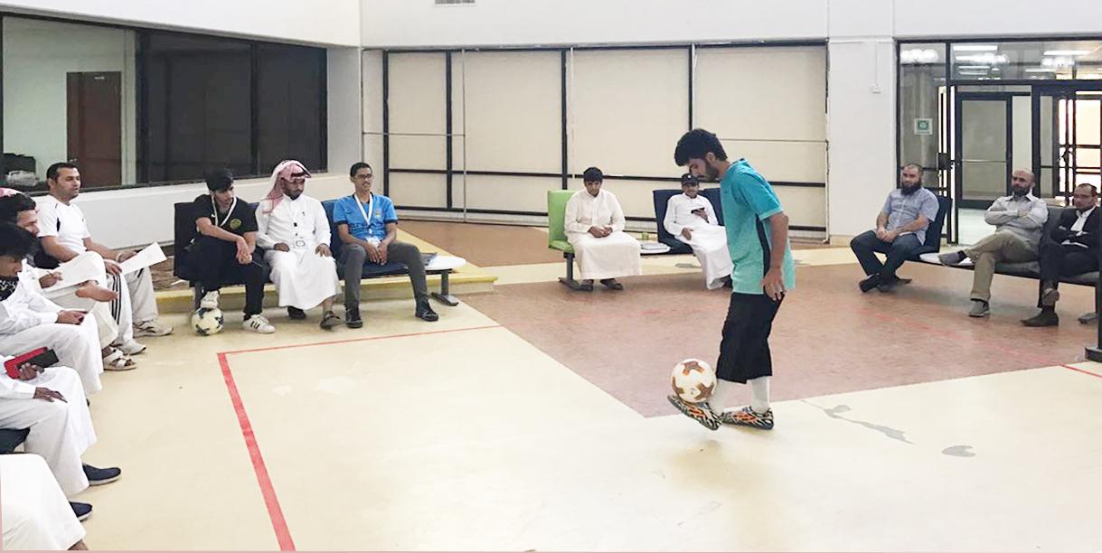 مهارات التحكم في الكرة في البرنامج الانتقالي للسنة الأولى المشتركة