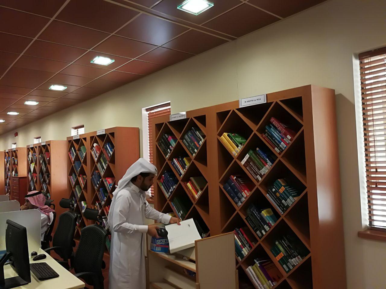 مشروع الجرد في مكتبة كلية الطب بمستشفى الملك خالد الجامعي