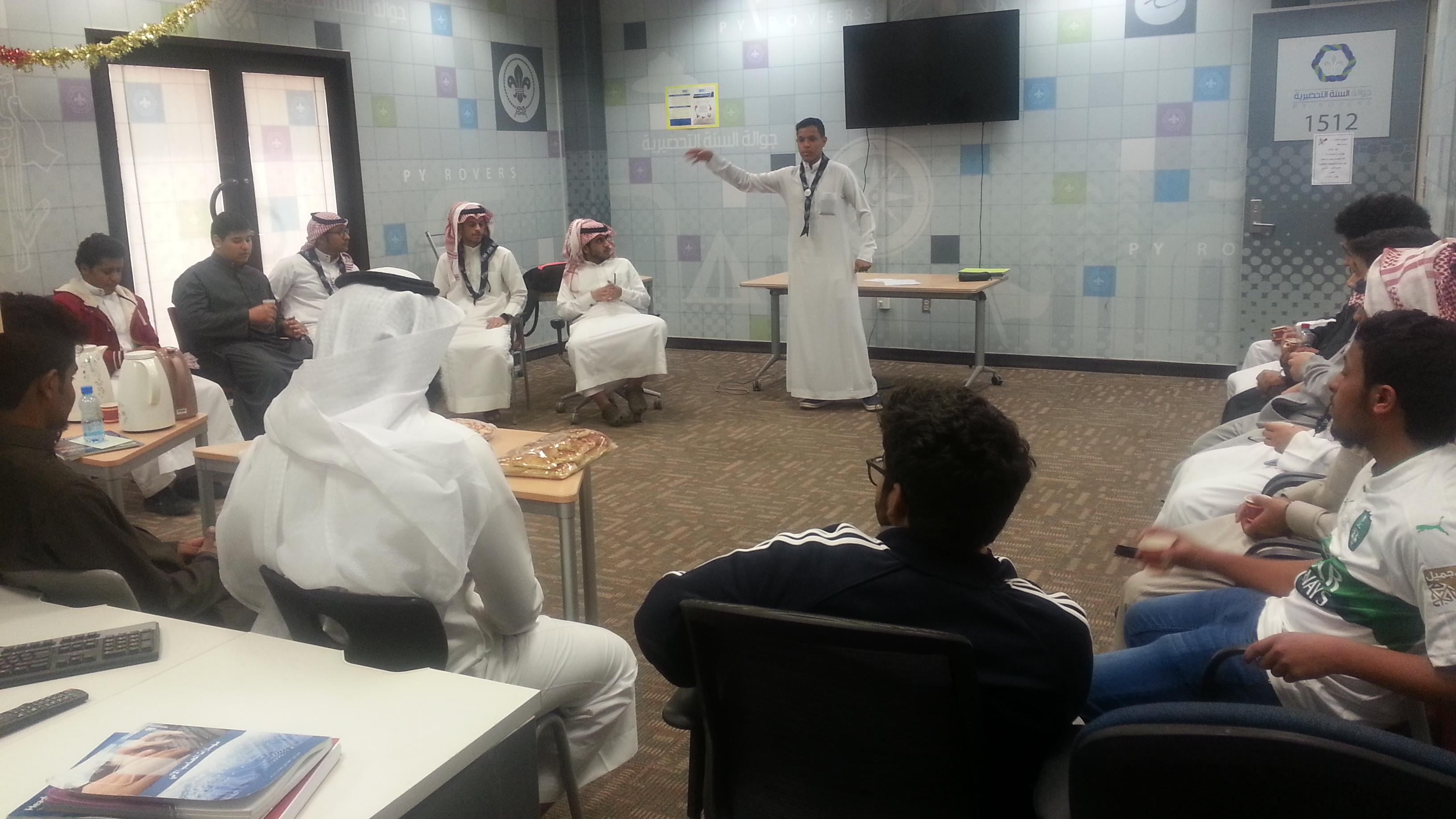 """""""  بادر """" .. دورة تدريبية لطلاب السنة الأولى المشتركة عن إعداد البرامج الكشفية وتنفيذها"""