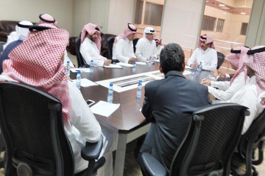 كلية علوم الرياضة تستقبل وفد عمادة التطوير والجودة بجامعة الملك سعود
