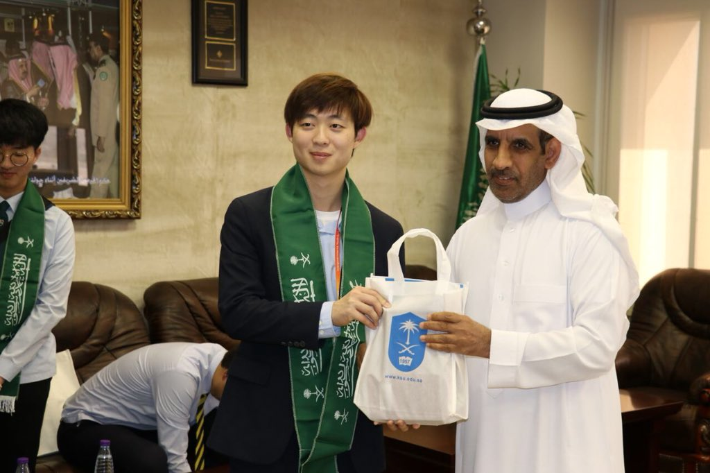 الوفد الشبابي الكوري يزور جامعة الملك سعود