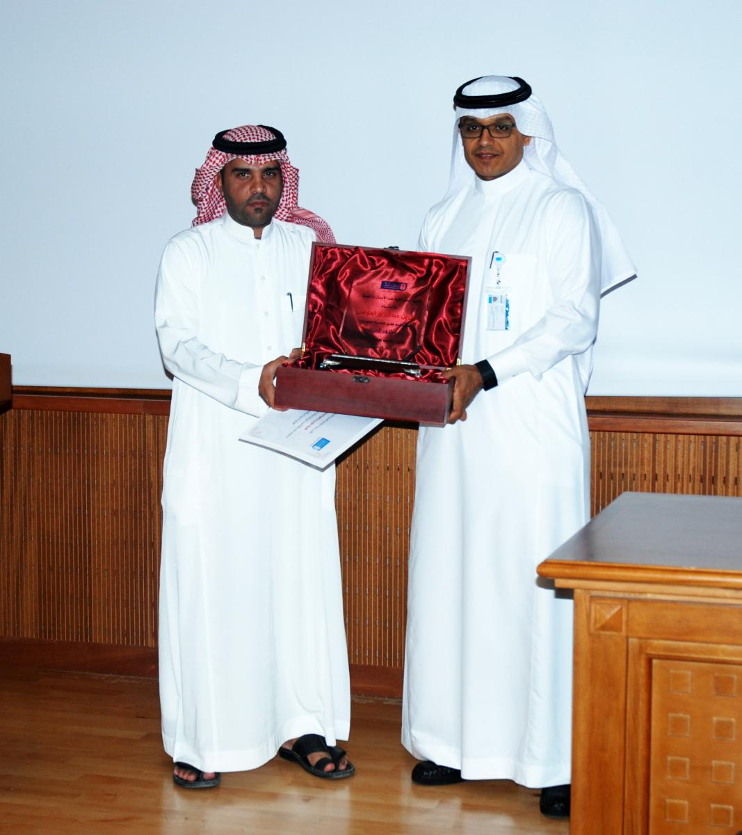 "Official inaugurating ""Dean Award for Ideal Employee"" and honoring the employee of the month"