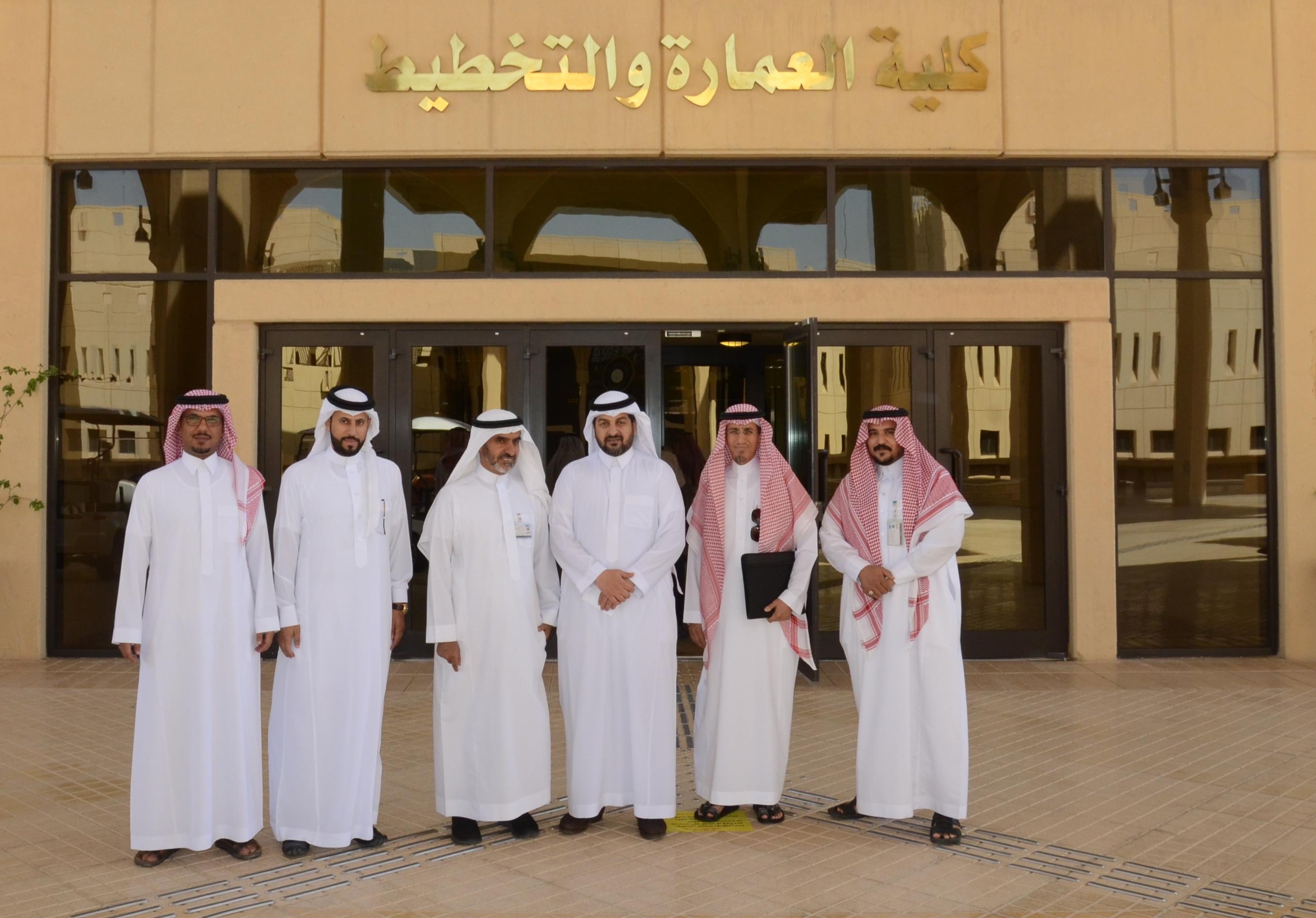 كلية العمارة والتخطيط تستقبل  وكيل الجامعة للشؤون التعليمية والأكاديمية