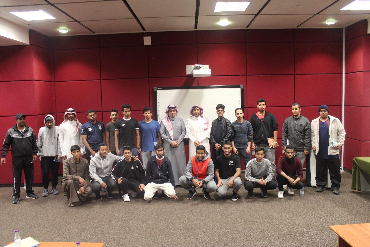 وكيل الكلية للشؤون التعليمية الدكتور محمد فقيهي يلتقي بالطلاب المستجدين