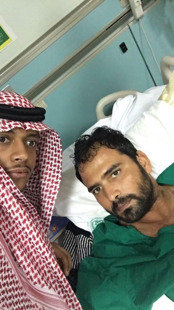 طلاب نادي ذوي الإعاقة بجامعة الملك سعود يزورون المصابين في الحد الجنوبي بعسكري الرياض