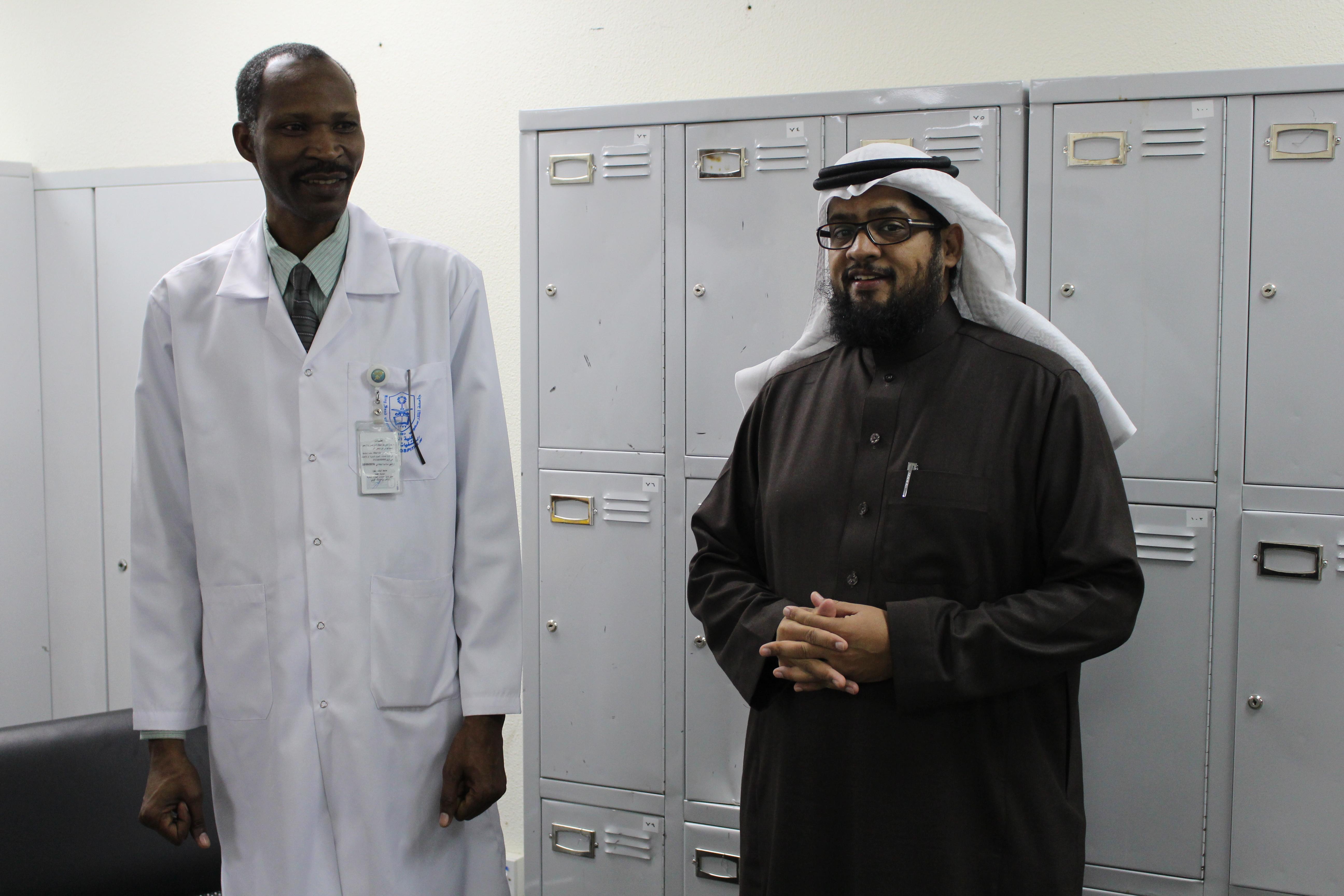 حملة التطعيم الموسمية للأنفلونزا بالتعاون مع قسم مكافحة العدوى بالمدينة الطبية بجامعة الملك سعود.