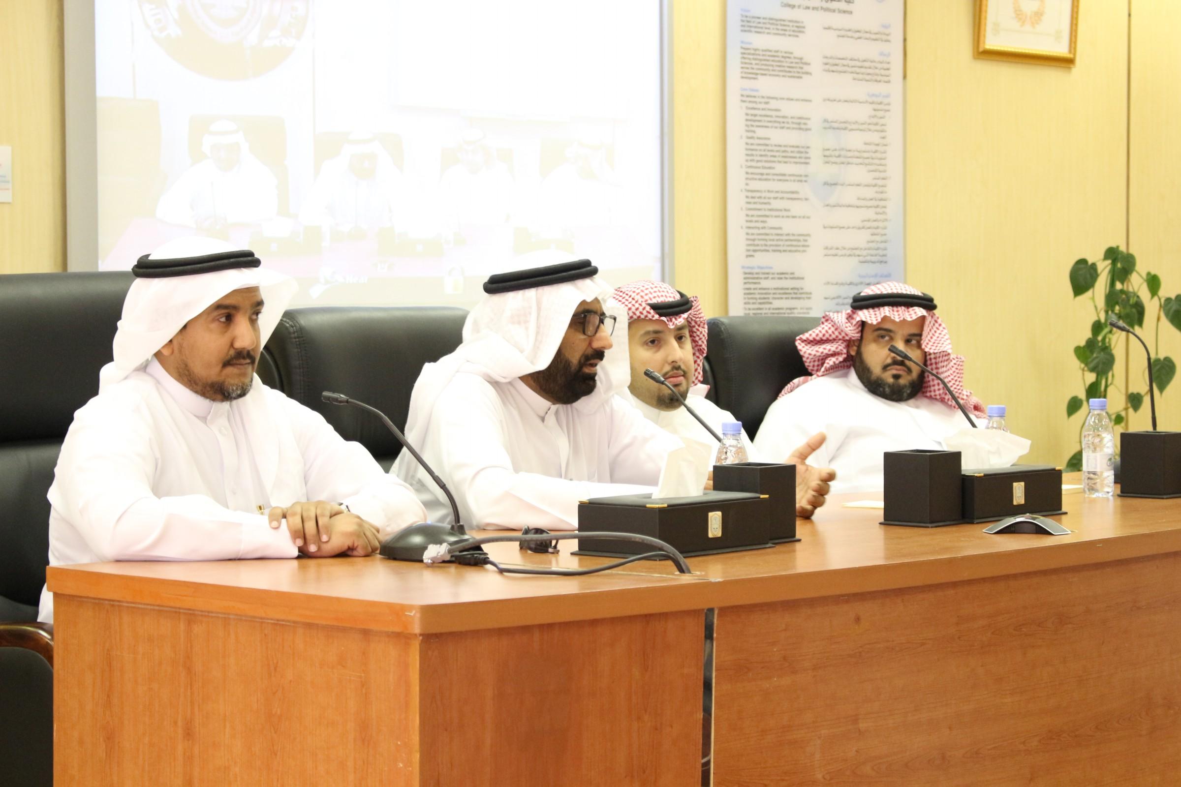 سعادة عميد كلية الحقوق والعلوم السياسية يلتقي بأبنائه الطلاب في اللقاء السنوي