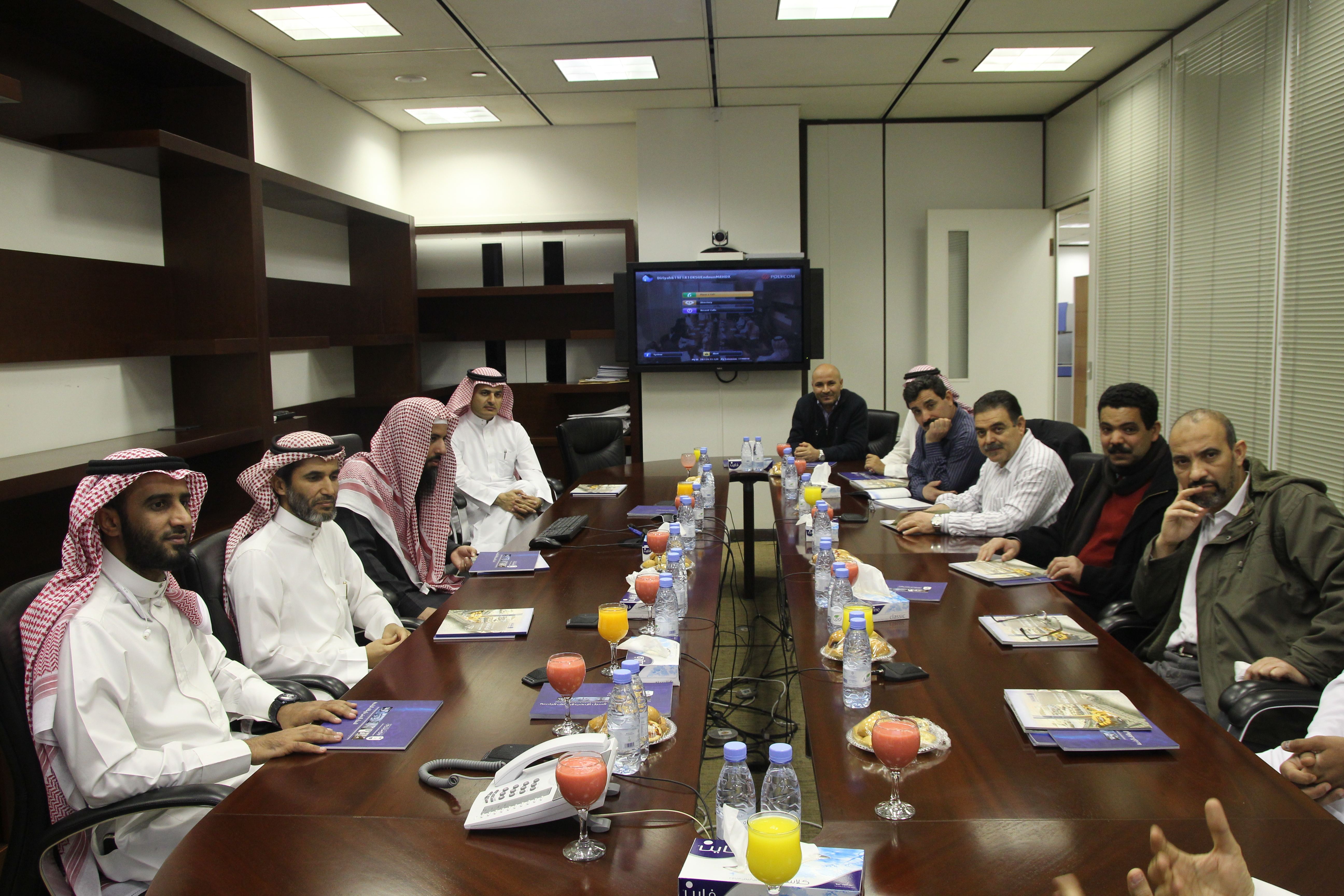 A Delegation from the Department of Mathematics Visited University Endowments