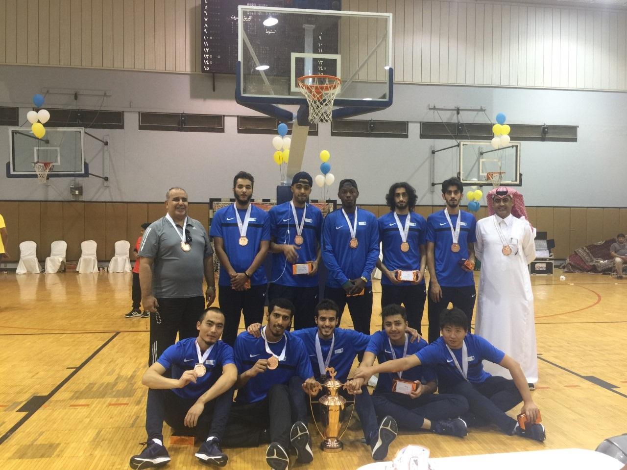 ضمن بطولة الاتحاد الرياضي للجامعات السعودية منتخب الجامعة لكرة السلة يحصد المركز الثالث