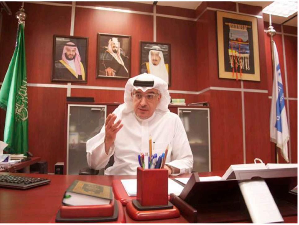 لقاء سعادة عميد الدراسات العليا الاستاذ الدكتور :عادل بن محمد الهدلق مع رسالة الجامعة