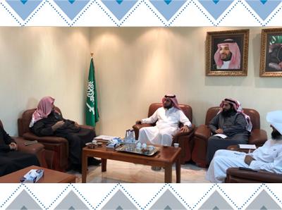 المركز يستضيف وفداً من المركز الخيري لتعليم القرآن الكريم وعلومه