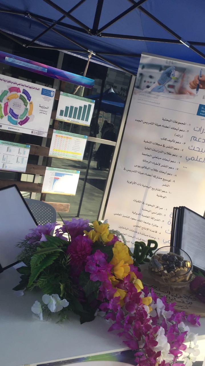 مشاركة عمادة البحث العلمي في فعاليات اليوم العالمي للجودة في جامعة الملك سعود