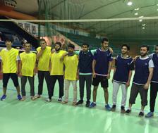 مشاركة فريق الطائرة في النادي الرياضي بمعهد اللغويات  في بطولة الجامعة لكرة الطائرة