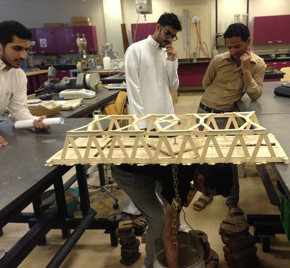 Engineering College Organizes Wooden Bridge Competition
