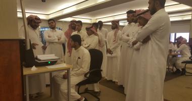 زيارة طلاب قسم التربية البدنية لمكتبة الملك سلمان