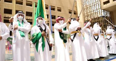 بحضور معالي الرئيس الجامعة تقيم احتفالات اليوم الوطني
