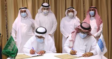 معالي رئيس الجامعة يوقع مع جامعةا الطائف اتفاقية تعاون في مجال الدراسات العليا