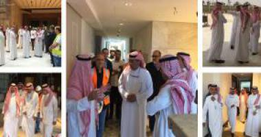 Dr. Al-Omar Inspecting the University Hilton Project