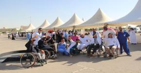 """كلية التمريض ممثلة بلجنة الأنشطة الطلابية """"قسم الطالبات"""" ونادي التمريض يشاركان في فعاليات اليوم العالمي لذوي الإعاقة"""