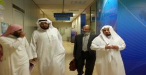 زيارة سعادة الدكتور إبراهيم العريني لمجلة الدراسات الاسلامية بكلية التربية.