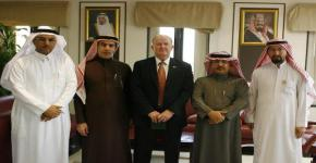 """وفد من شركة """" نورثروب جرومان """" يزور جامعة الملك سعود"""