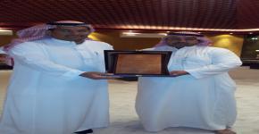 إدارة التشجير والخدمات المساندة تكرم المهندس / عبدالرحمن المطوع لإنتهاء فترة عمله في الإدارة