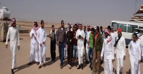 Two KSU student groups visit ARTAR greenhouse project in Riyadh
