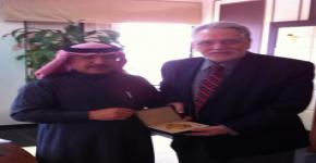 Professor George Chrousos visits King Saud University