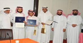 وحدة الإرشاد الطلابي بقسم الهندسة الكهربائية تكرم طلاب القسم المتفوقين