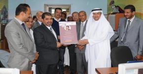رئيس جامعة حضرموت للعلوم والتكنولوجيا في زيارة لكرسي بقشان لابحاث النحل