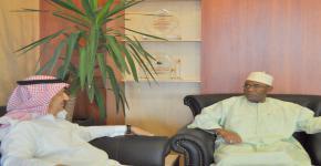 Egyptian and Gambian Diplomats Visit King Saud University