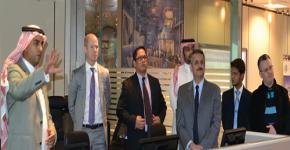 Steve Bright Vice President of IBM Visits C4I Center