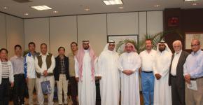 وفد من جامعة الملك خالد يزو وكالة الجامعة للمشاريع