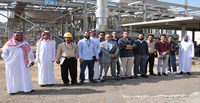 KSU student delegation visits SWCC desalination plants
