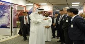 KSU Rector Al-Omar greets presidents from several Korean universities