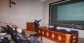 إقامة محاضرة للدكتور محمد خاجا نذيرالدين من المعهد السويسري الفيدرالي للتقنية بلوزان بسويسرا