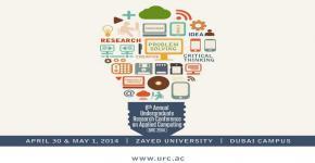 الجامعة تشارك بالمؤتمر السنوي السادس للحوسبة التطبيقية لطلبة المرحلة الجامعية في جامعة زايد بدبي