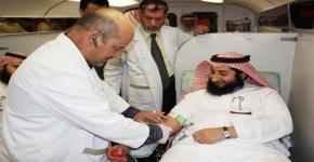 مركز التوجيه والإرشاد بعمادة شؤون الطلاب يواصل حملة التبرع بالدم بكلية المعلمين بالرياض