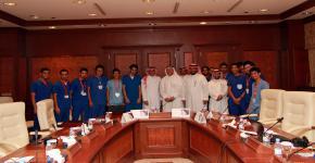 مدير الجامعة يكرم أولمبياد الخدمات الطبية الطارئة