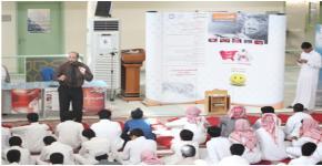 طلاب كلية المجتمع يزورون ثانوية الأبناء بالحرس الملكي