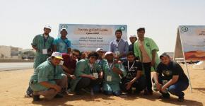 """تحت شعار """" بر بلا نفايات """" طلاب كلية المجتمع يشاركون في حملة نظافة المليون م2 السابعة"""