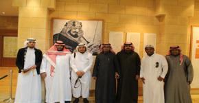 طلاب كلية المجتمع في دارة الملك عبدالعزيز التاريخي