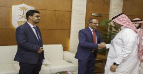 رئيس جامعة عدن : نعمل على الاستفادة من تجربة السنة الاولى المشتركة في جامعة الملك سعود لتميزها