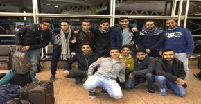 كلية الأمير سلطان تودع طلاب إمتيازها للتدريب في أمريكا