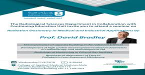 Radiation Dosimetry in Medical and Industrial Applications  by Prof. David Bradley
