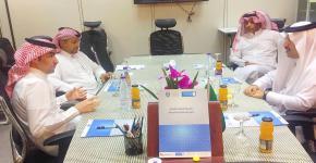 بحث سبل التعاون بين بنك الرياض و برنامج الوصول الشامل بجامعة الملك سعود