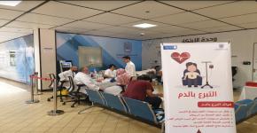 النادي الثقافي والاجتماعي في كلية علوم الحاسب  ينظم فعالية التبرع بالدم
