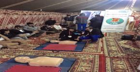 الطبية الطارئة في المخيم الربيعي